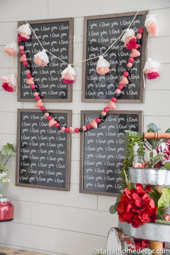 DIY Valentine's Day Entry Way, I love you free printable