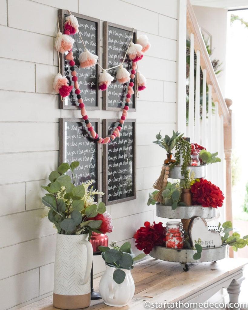 DIY Valentine's Day Entry Way