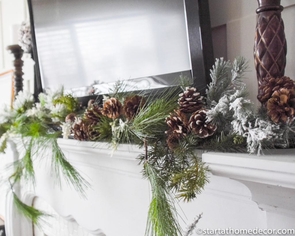 Winter Decor Mantel