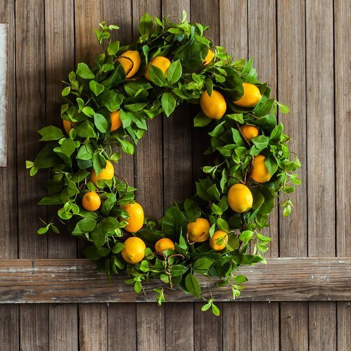 Spring decor - Lemon wreath