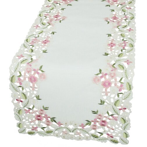 Spring table runner - floral decor