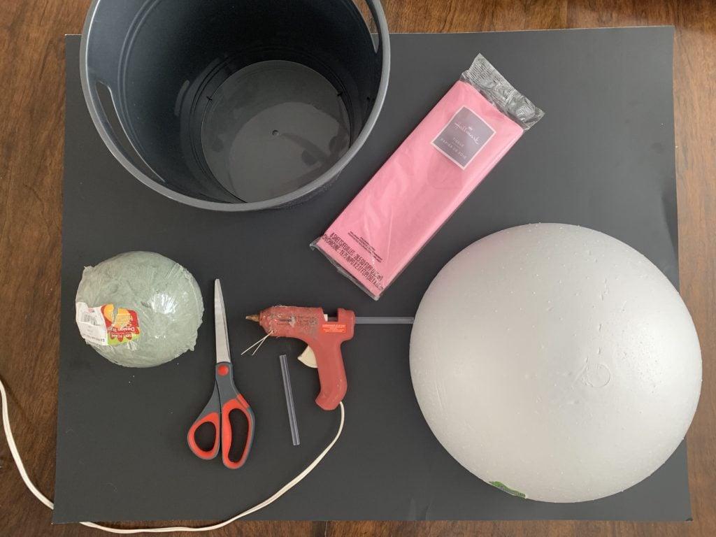 Making a cupcake Valentine's Day box