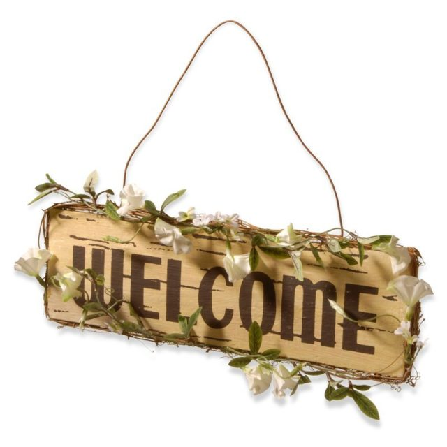 Spring Decor items - Welcome sign