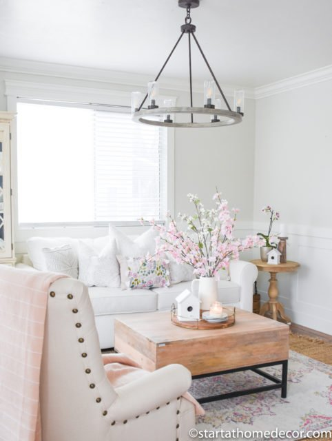 Spring Decor on a Budget - Living Room