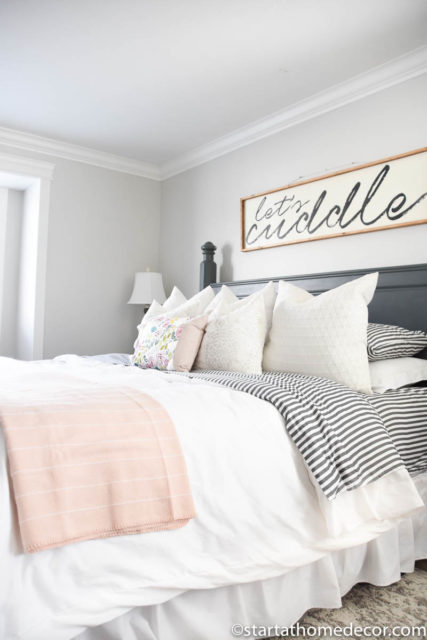 How to add spring accents to your home - Spring master bedroom