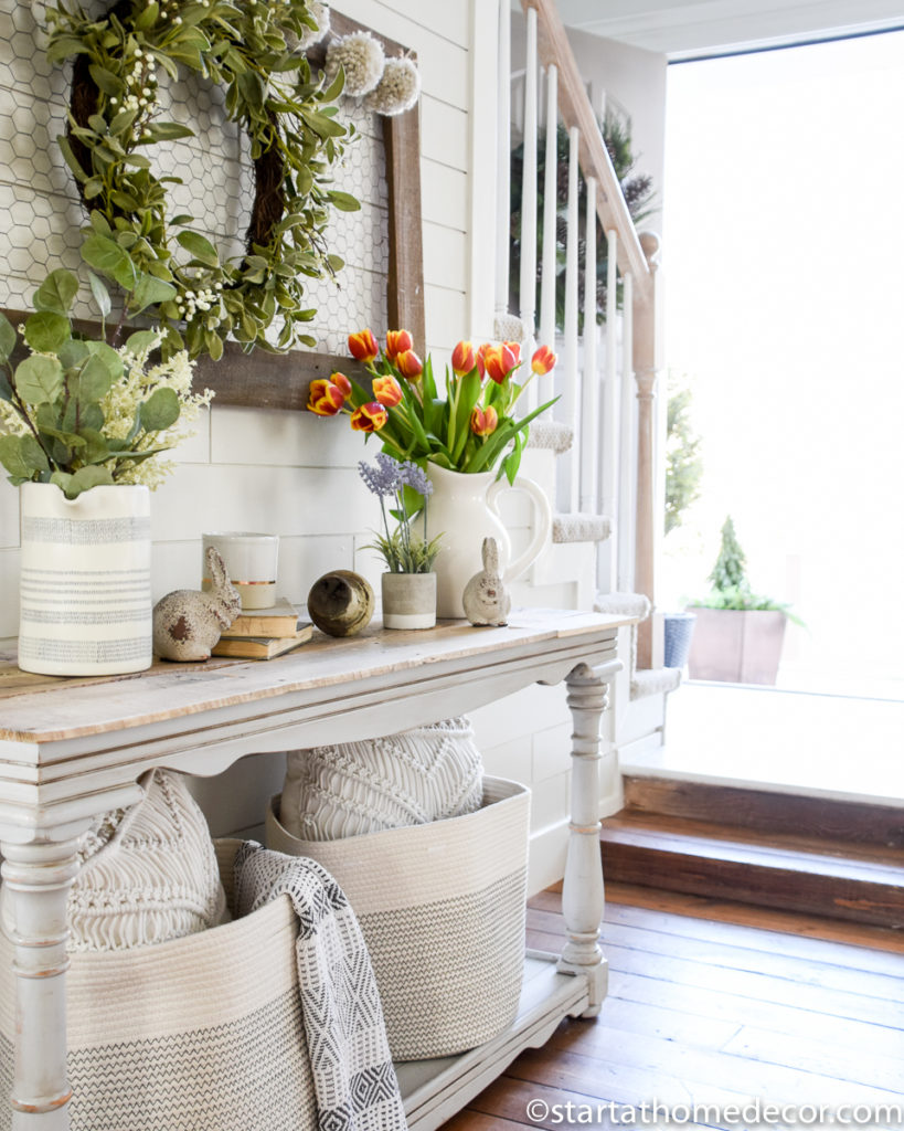 Spring home tour - Decorating for spring