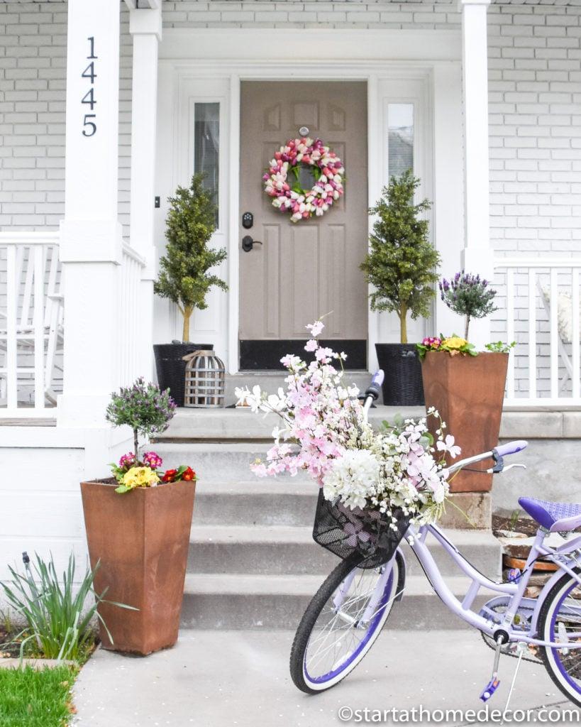 Adding Spring Decor on a Budget