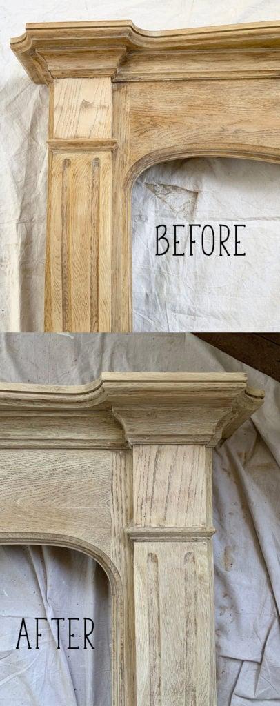 How to bleach wood.  Red oak bleached looks similar to white oak!