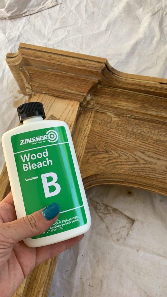 bleach red oak