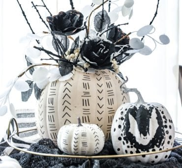 Black and White Sharpie Pumpkins