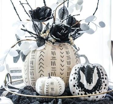 Black and White Sharpie Pumpkins