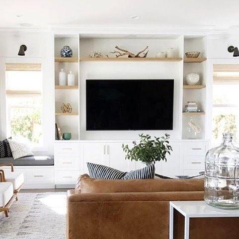 Building a home   Start at home   Open shelves   family room inspiration   Living room