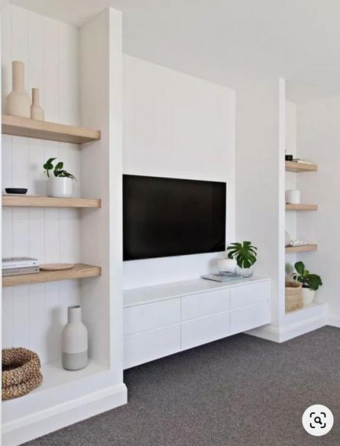 Building a home | Start at home | Open shelves | family room inspiration | Living room | built-in shelves