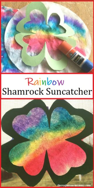 St. Patrick's Day - activities and crafts - kid crafts - sun catcher