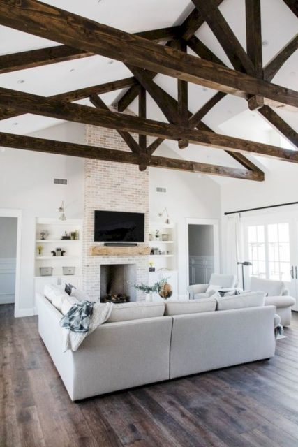 Ceiling design | wood treatments | Ceiling treatments | painted ceiling | wood ceiling | wood beams