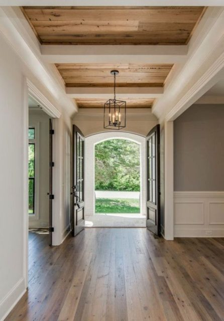 Ceiling design | wood treatments | Ceiling treatments | painted ceiling | wood ceiling