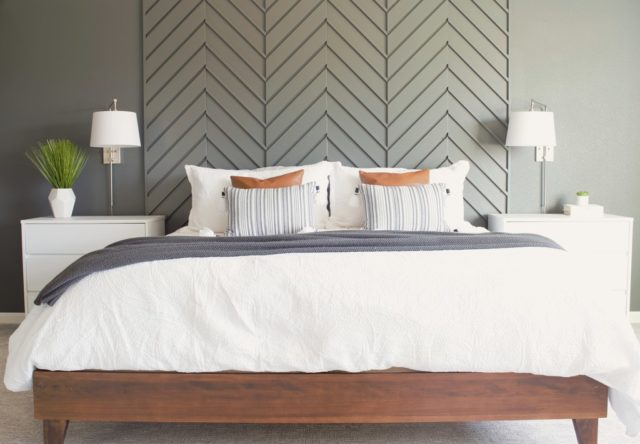 Wood wall treatments - Modern Walls - Wood design - Wood wall accents - Wood paneling - Herringbone