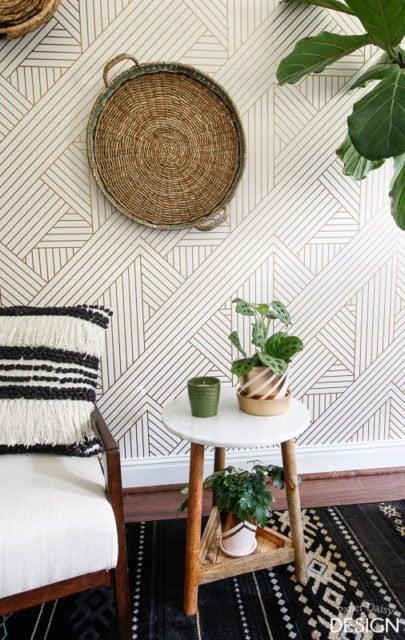 Wallpaper treatments | Wall Accents | wallpaper design |