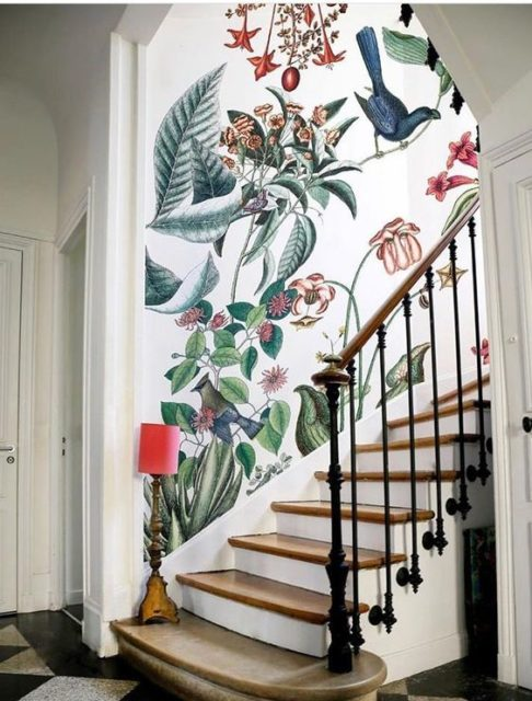 Wallpaper treatments | Wall Accents | wallpaper design | hallway