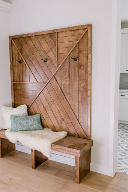 Wood wall treatments - Modern Walls - Wood design - Wood wall accents - Wood paneling - Farmhouse walls - Entryway