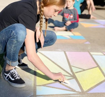 Sidewalk Chalk Activity for Kids