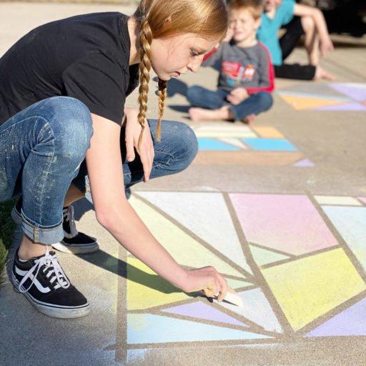 Sidewalk Chalk Activity for Kids