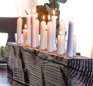 DIY Candle Centerpiece
