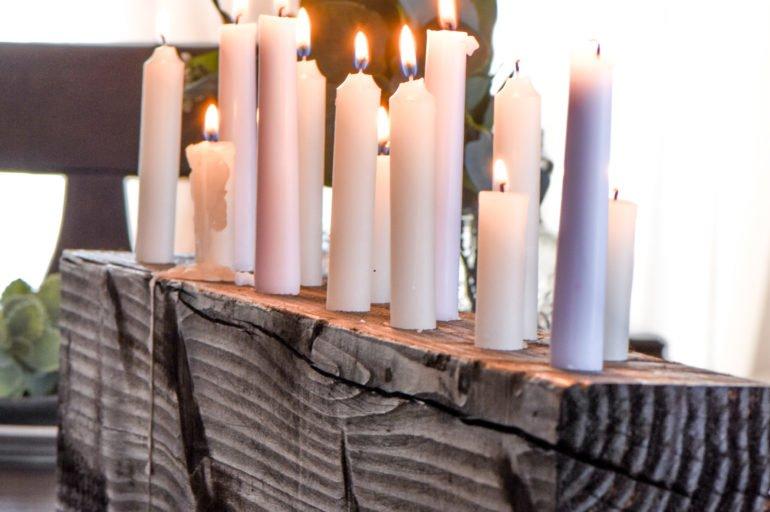 DIY Candle Centerpiece