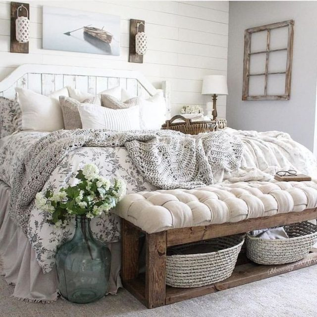 farmhouse | farmhouse bedroom | master bedroom | farmhouse bedding | neutral bedding | farmhouse rugs