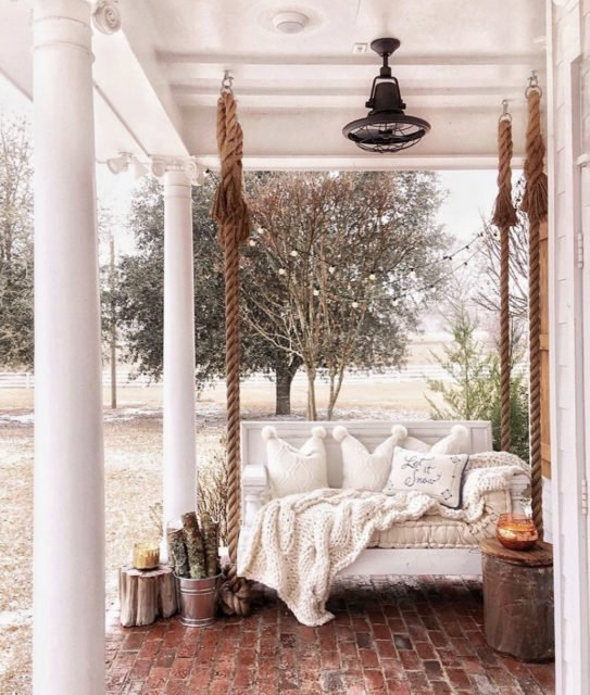Front porch | front entry | porch swing | building a home