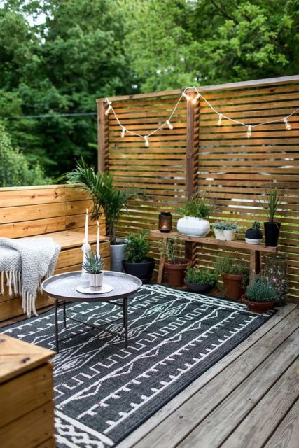 Summer Backyard | Backyard porch | backyard patio | Outdoor space | Backyard design