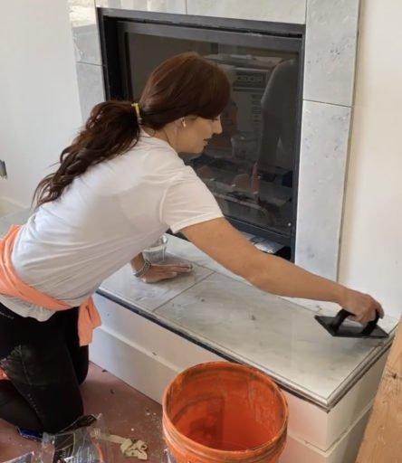 DIY Finish Work on a Fireplace