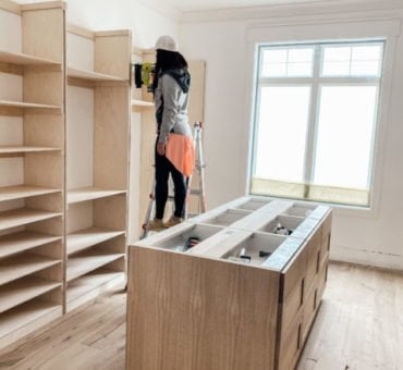 DIY Plywood Closets!