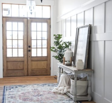 Wainscoting in the Entryway