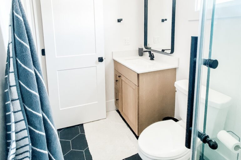 Black and White Bathroom for Little Buddy