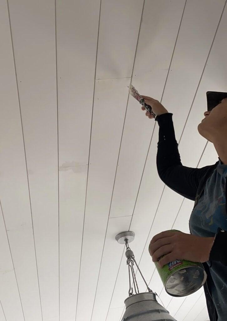 Ceiling shiplap | Modern farmhouse | shiplap | boy room ideas | charcoal grey shiplap