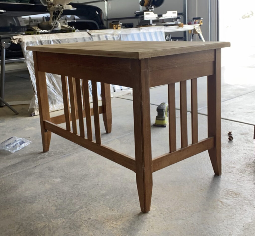desk remodel | boy room | Bleached desk | painted desk