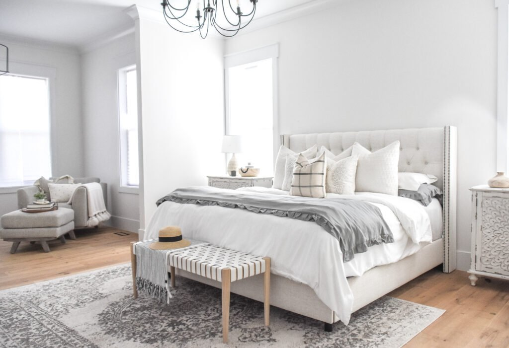 Amazon bedding | neutral bedding | master bedroom | master bed bedding | white bedding