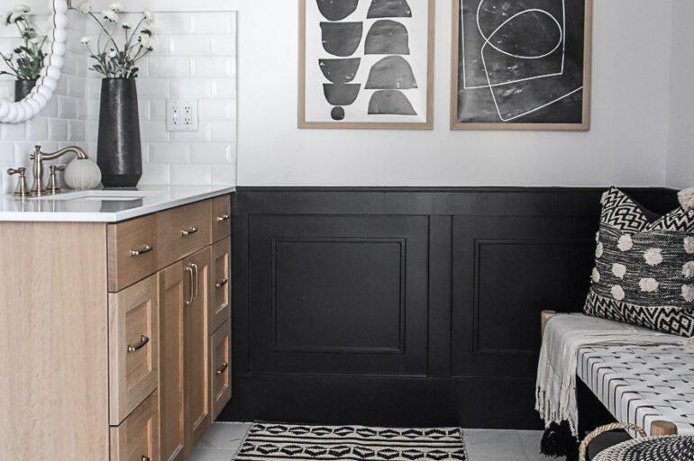 Black and White Bathroom Refresh