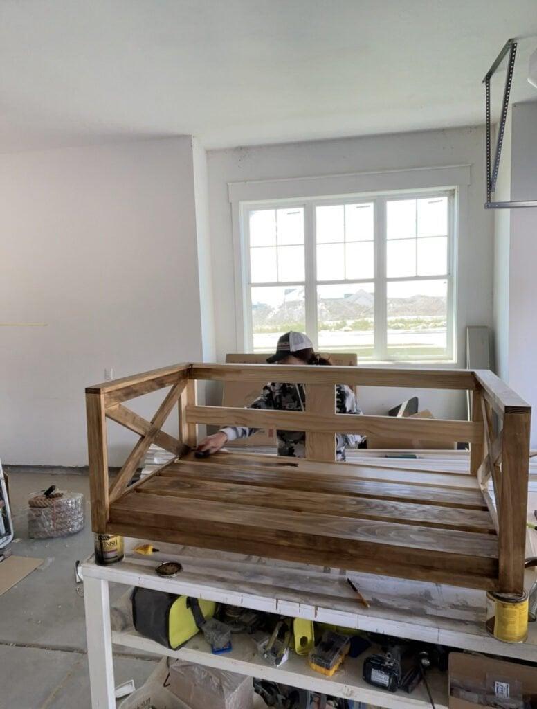 DIY Porch Swing with Crib Mattress